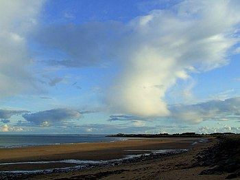 English: Clouds over Carnoustie Bay A towering...