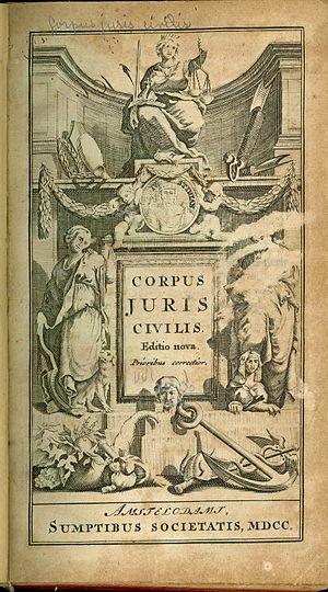 Source: CORPUS JURIS CIVILIS (Amsterdam, 1700)...