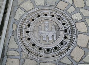 Manhole cover in Freiburg im Breisgau,Germany