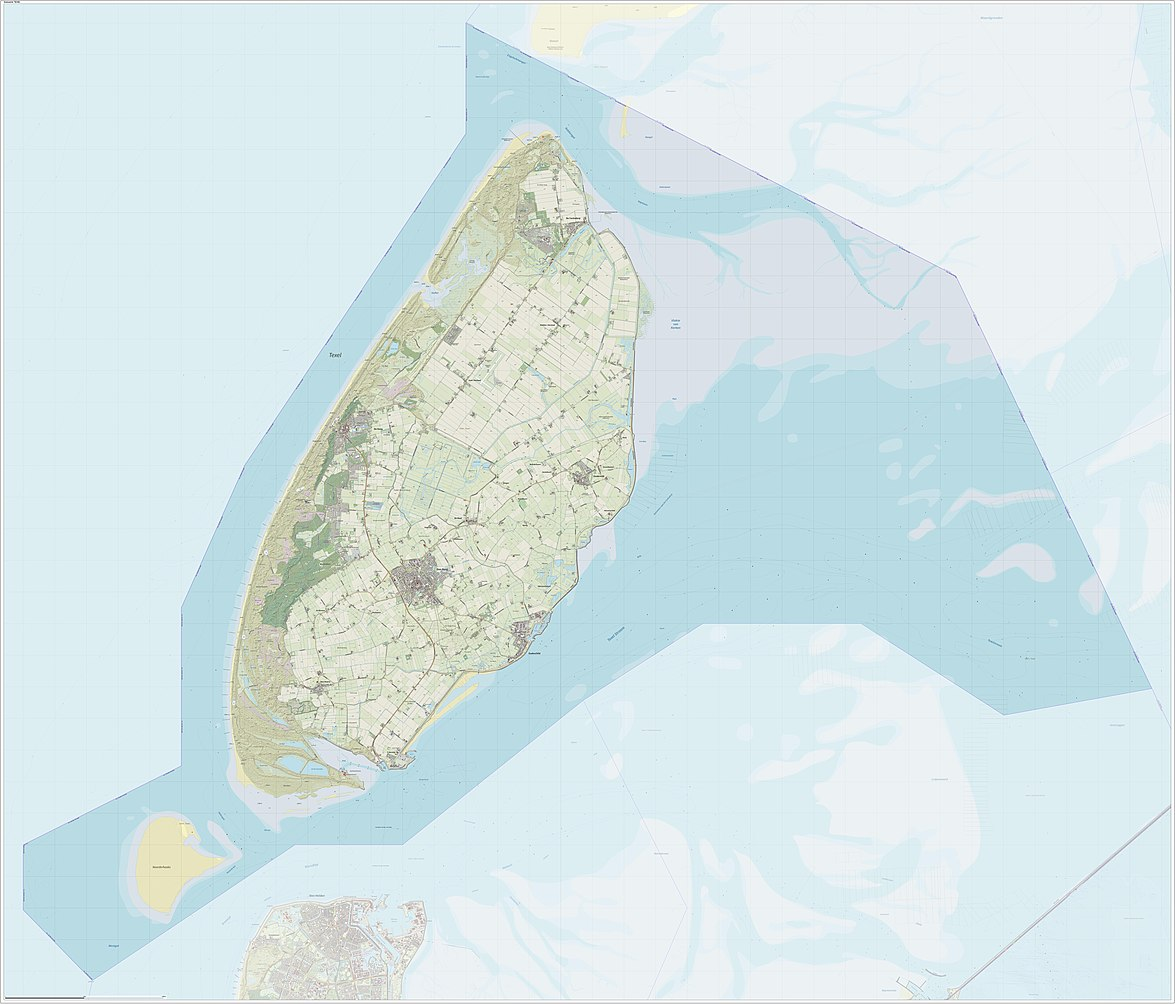 Netherlands Topographic Map.Discovering More Of The Netherlands Texel Multiple Road Disorder