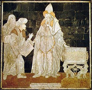 Hermes Trismegistus, floor mosaic in the Cathe...