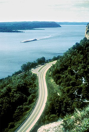 Wisconsin Great River Road, Mississippi River,...