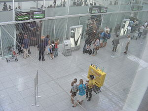"Munich international airport ""Franz Josef Stra..."