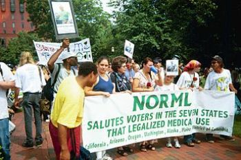 English: NORML members protest in Lafayette Pa...