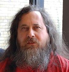 Richard Stallman looking like a criminal, but no, really, he's a saint.