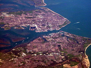 Aerial view of Portsmouth