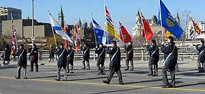 Remembrance Day parade in Ottawa, Canada.