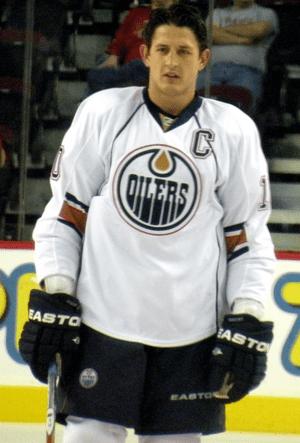 English: Edmonton Oilers captain Shawn Horcoff...