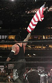 "Undertaker as his ""American Bad Ass"" gimmick at WrestleMania XIX."