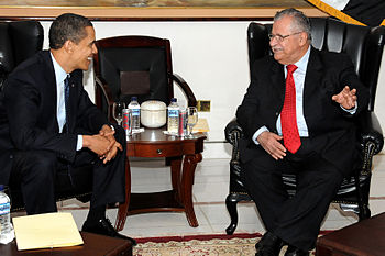 President Barack Obama and Iraqi President Jal...