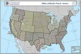 English: Map of the U.S. Customs and Border Pa...