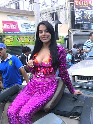 Español: Charolyn Abreu, reina del Carnaval Ve...