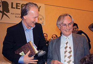 English: Bill Maher and Richard Dawkins after ...