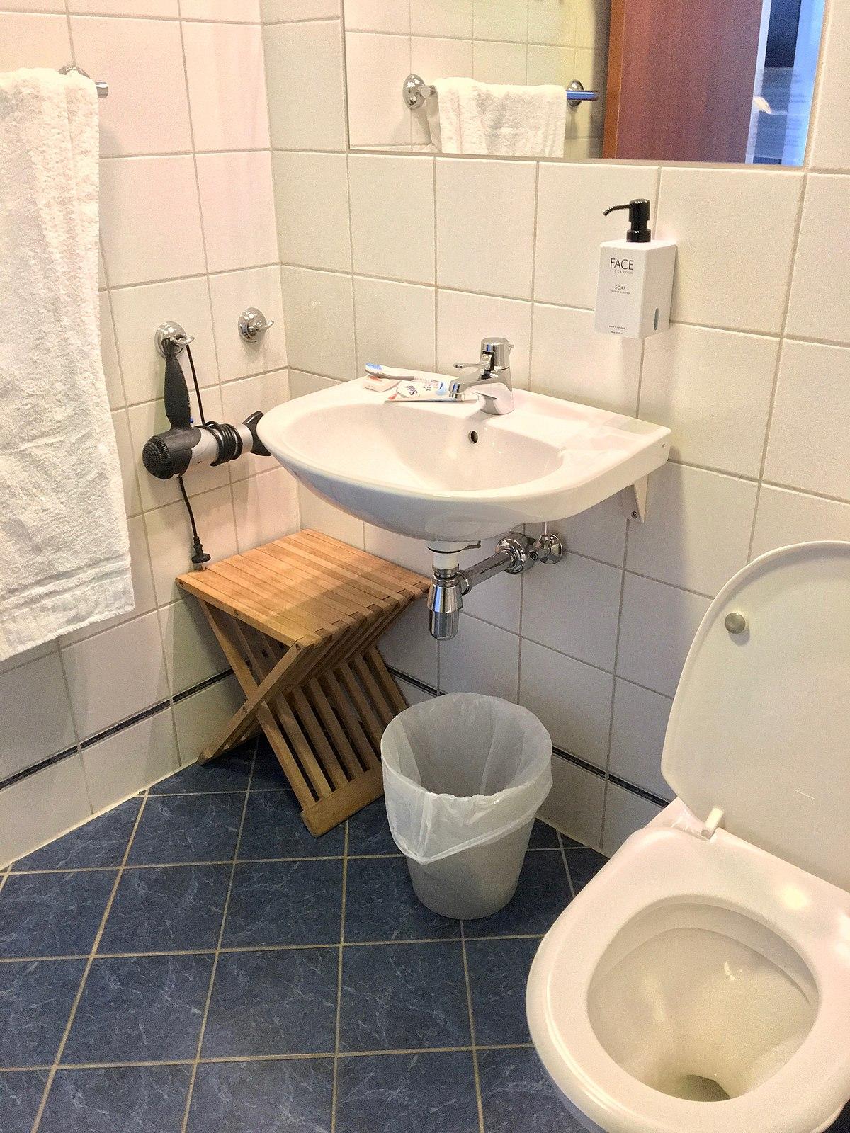 with hand wash sink mirror waste bin