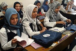 Student from the Hala Bint Khuwaylid secondary...