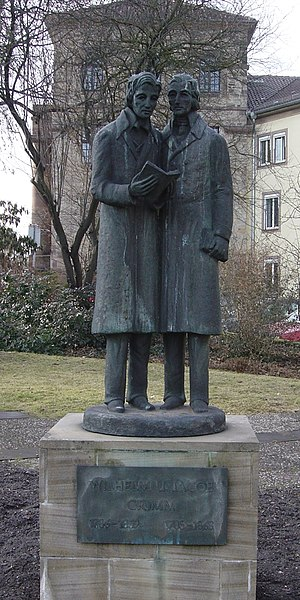Deutsch: Brüder-Grimm-Denkmal, Brüder-Grimm-Pl...