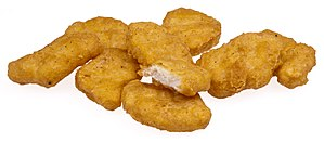 A pile of McDonalds Chicken McNuggets...