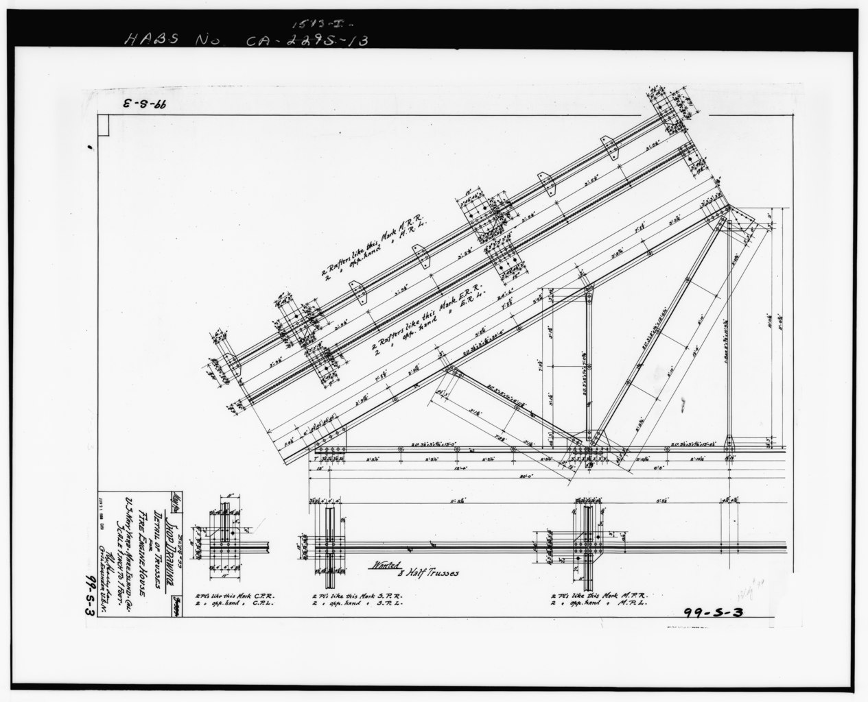 File Photocopy Of Drawing 99 S 3 Shop Drawing Detail Of