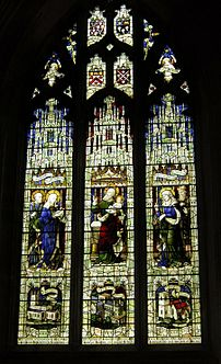 Peterborough Cathedral, stained glass window, ...