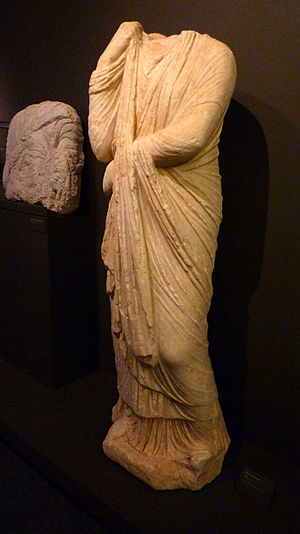 "English: Roman statue of the type of ""pud..."