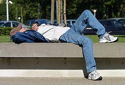 Sleeping man J1
