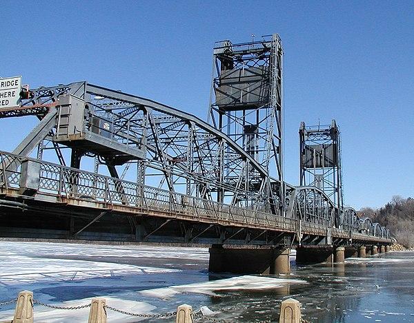 The lift bridge in Stillwater