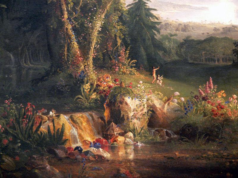 File:Thomas Cole The Garden of Eden detail Amon Carter Museum.jpg