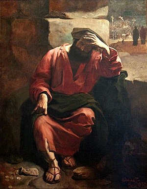 Judas' regret