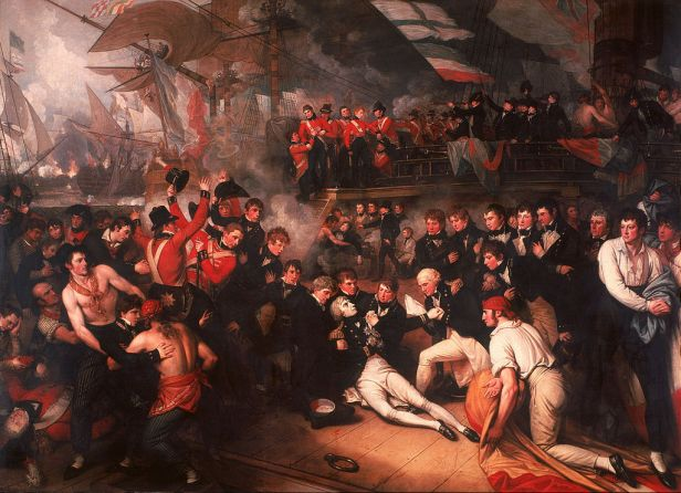 """""""The Death of Nelson"""" by Benjamin West"""