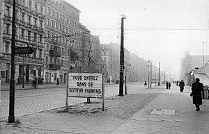 Bernauer Straße in 1955
