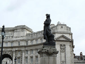 Statue of Captain James Cook at Admiralty Arch...