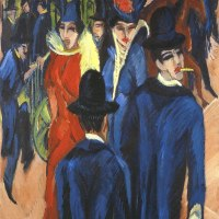 """Berlin Street Scene"" byErnst Ludwig Kirchner"
