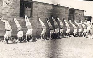 English: gymnastics class, Sports in Israel עב...