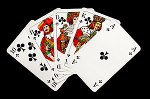 Deutsch: Straight Flush beim Poker