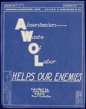 AWOL Helps our Enemies - NARA - 534638