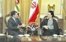 Abdullah and Iranian President Mohammad Khatami, Tehran, 2 September 2003