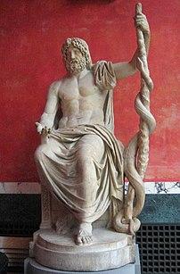 A statue of Asclepius. The Glypotek, Copenhagen.