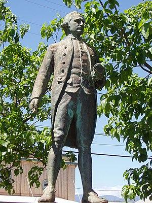 Captain James Cook statue, Waimea, Kauai, Hawa...