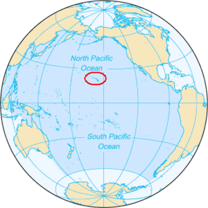 English: The location of Hawaii in the Pacific...