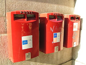 English: Mailboxes in Italy Italiano: Cassette...