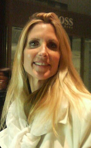 Ann Coulter at the Time 100 red carpet.