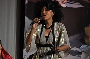 Judith Hill performs a song at the end of the ...