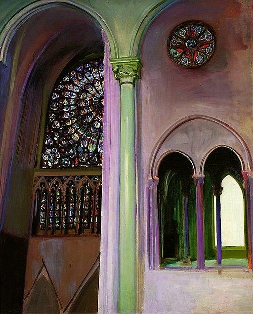 """Fragment of the interior of Notre Dame in Paris"" by Konrad Krzyżanowski"