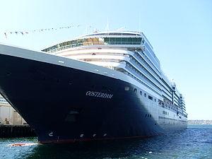 MS Oosterdam at San Diego port.