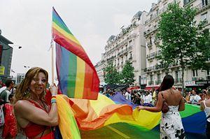 Défilé de PASTT à la Gay Pride à Paris en France