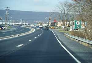 Northbound Pennsylvania Route 61 approaching t...