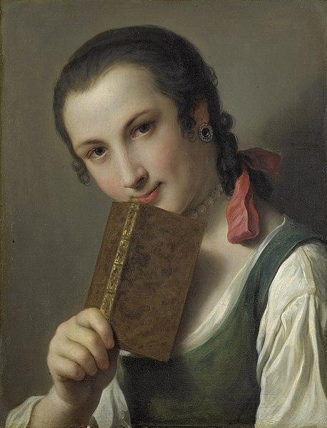 File:Pietro Antonio Rotari - Een jonge vrouw met een boek.jpg