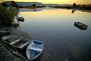 Rio Bidasoa a su paso por Irun (Gipuzkoa)
