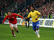 Ronaldinho playing against Switzerland