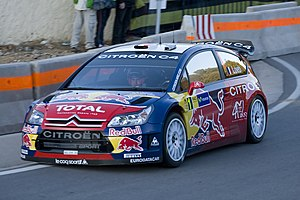 Sébastien Loeb driving his Citroën C4 WRC at t...